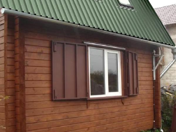 металлические ставни на окна для дачи от производителя